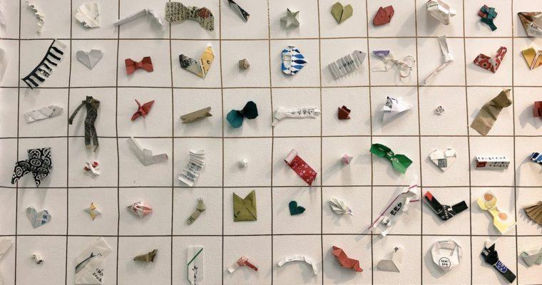 Japón: Esculturas de papel hechas con envolturas de palillos